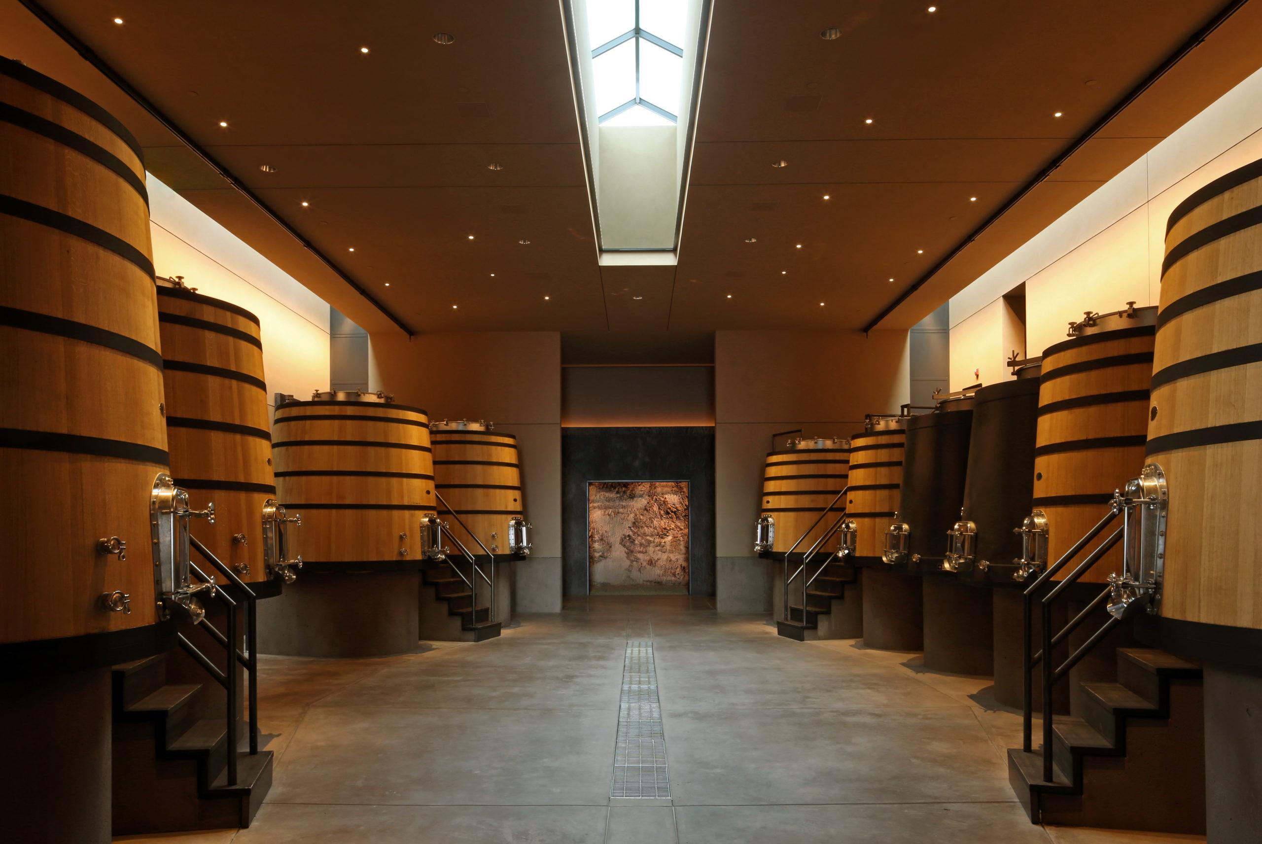 Continuum Estate, Winery, Cellar, Tim en Marcia Mondavi Napa Valley