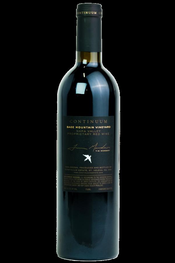 Continuum Estate, productfoto, wijnfles, Mondavi.