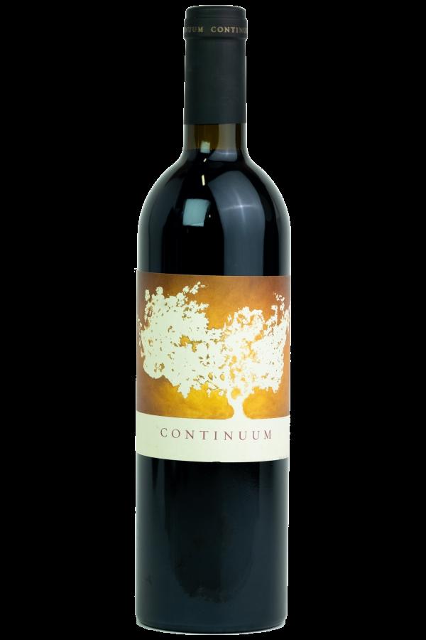 Continuum Estate Productfoto, wijnfles, Tim en Marcia Mondavi, Napa Valley