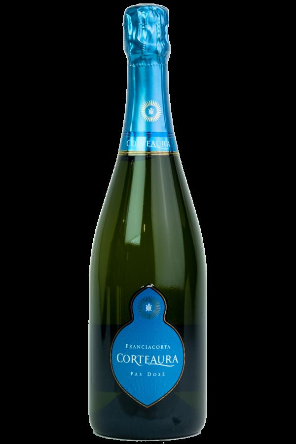 Corte Aura Pas Dosé Franciacorta DOCG, wijnfles, productfoto