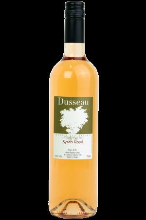 Dusseau Syrah Rosé, IGP Pays d'Oc, wijnfles, productfoto