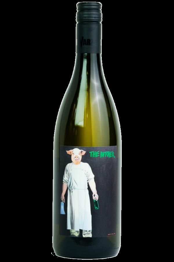 Butcher Chardonnay, Weingut Schwarz, Productfoto fles, wijnfles