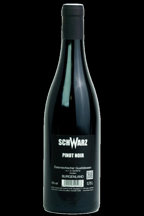 Butcher Pinot Noir, Weingut Schwarz, Productfoto fles, wijnfles