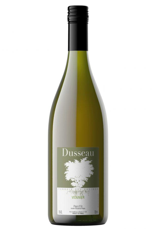 Domaine Dusseau viognier, wijnfles, flesfoto, productfoto