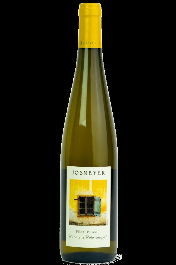 Josmeyer Pinot Blanc, Mis du Printemps. Wijnfles, Productfoto