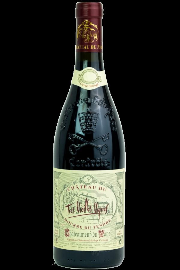 Mourre du Tendre Chateuneuf du Pape, productfoto, flesfoto, wijnfles