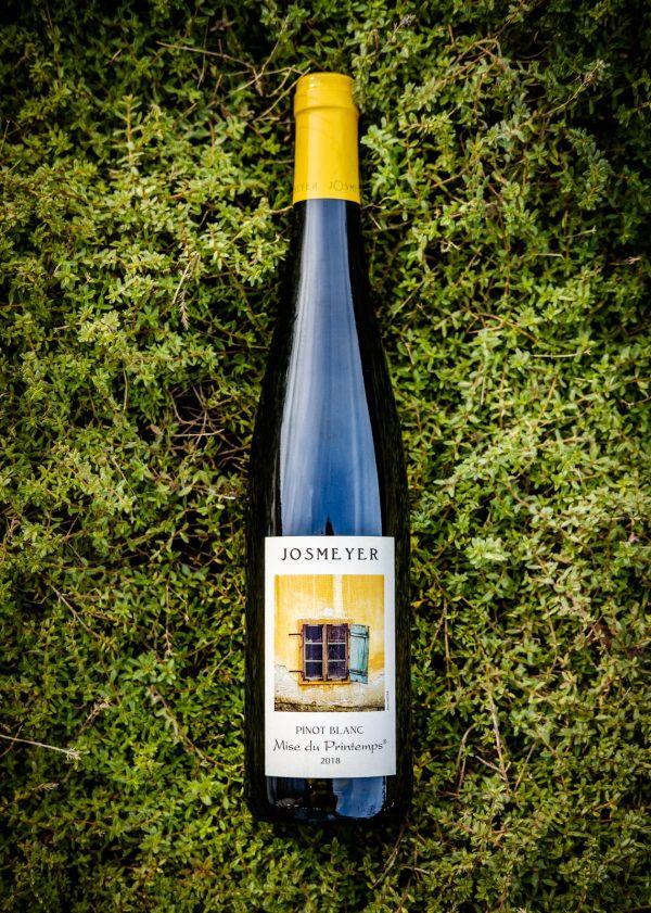 josmeyer wijnfles, mis du printemps pinot blanc, productfoto
