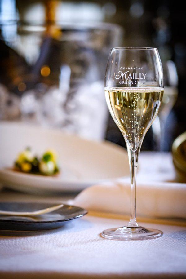 Mailly Grand Cru Champagne wijnglas, champagnefluut