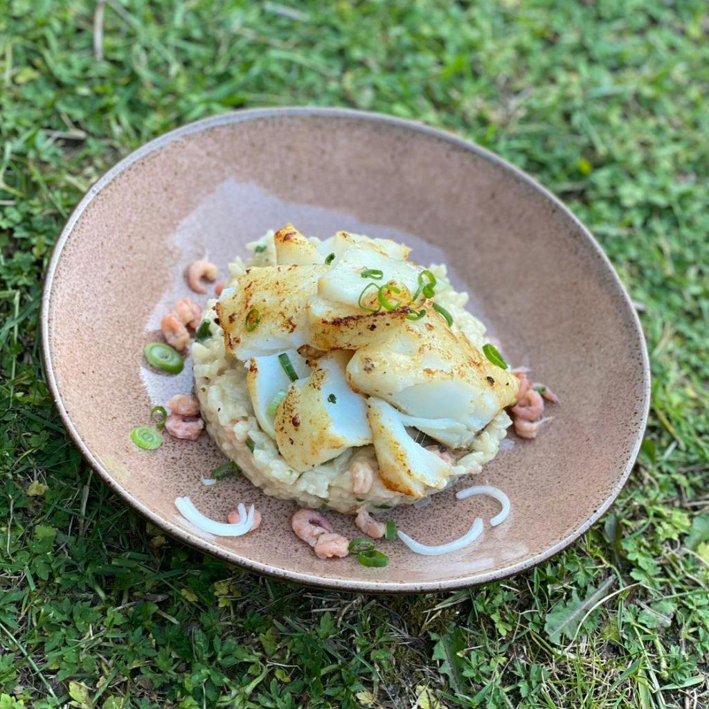kabeljauw met risotto