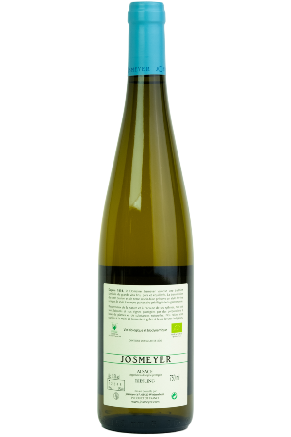 Josmeyer Riesling le kottabe Wijnfles, Productfoto